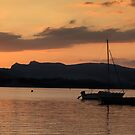 Sunset over Windermere by David Henderson
