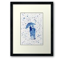 Love in the Rain Framed Print