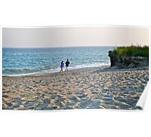 A Young Couple Walk Along The Sea - Rhode Island  *Featured Poster