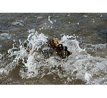 Water splash Lake Ontario Photographic Print