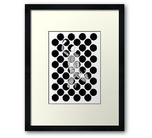 144 - LEAP INTO THE NIGHT - DAVE EDWARDS - INK - 1987 Framed Print