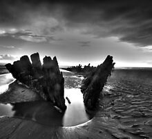 Berrow shipwreck hdr by David Cooper