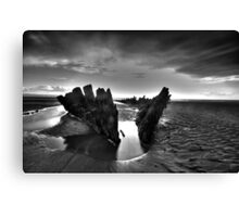 Berrow shipwreck hdr Canvas Print