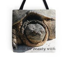 Look for Beauty Within - A Beautiful Turtle Tote Bag
