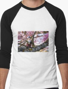 Todds Pink Tree Men's Baseball ¾ T-Shirt