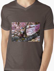 Todds Pink Tree Mens V-Neck T-Shirt