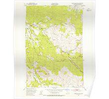 USGS Topo Map Oregon Green Mountain 280096 1949 24000 Poster