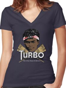 Turbo Street Cleaning Services Women's Fitted V-Neck T-Shirt