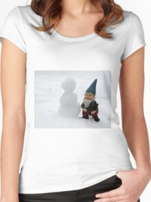 Small Friend Women's Fitted Scoop T-Shirt