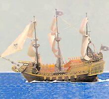 SS Ship watercolor by sajjadmusavi