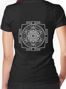 Metatron_Chakra_Yantra - Antar Pravas 2011 - Visionary Art Women's Fitted V-Neck T-Shirt