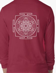 Metatron_Chakra_Yantra - Antar Pravas 2011 - Visionary Art Long Sleeve T-Shirt