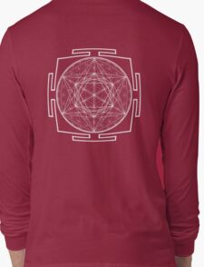 Platonic_Yantra - Antar Pravas 2011 - Visionary Art Long Sleeve T-Shirt