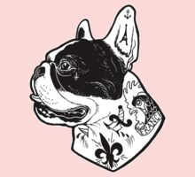 Tattooed French Bulldog One Piece - Long Sleeve
