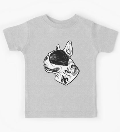 Tattooed French Bulldog Kids Tee
