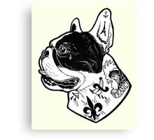 Tattooed French Bulldog Canvas Print
