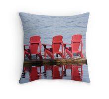 Waiting for the Holidays - Lake Muskoka Throw Pillow