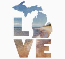 Love in Michigan Kids Tee