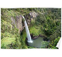 Waireinga falls-Bridal Veil falls-TeMata Raglan New Zealand  Poster