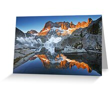Iceberg Lake Sunrise Greeting Card