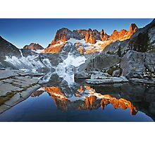 Iceberg Lake Sunrise Photographic Print