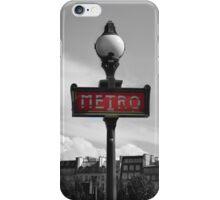 Paris Metro Sign B&W iPhone Case/Skin