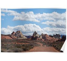 Hiking in The Valley of Fire Poster