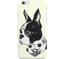Tattooed Boston Terrier  iPhone Case/Skin