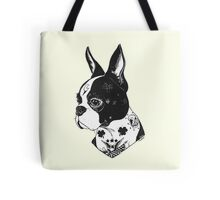Tattooed Boston Terrier  Tote Bag