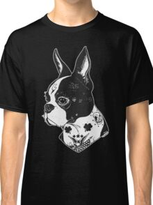 Tattooed Boston Terrier  Classic T-Shirt