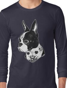 Tattooed Boston Terrier  Long Sleeve T-Shirt