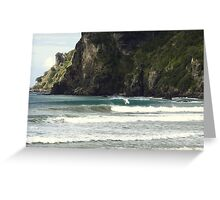 Surfing Nature Taupo Bay  Greeting Card