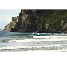 Surfing Nature Taupo Bay  Photographic Print