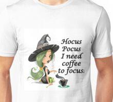 HALLOWEEN - HOCUS POCUS I NEED COFFEE TO FOCUS Unisex T-Shirt