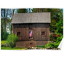 Patriotic New England Barn Poster