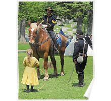 Impromptu conversation: U.S. Civil War reenactment Poster