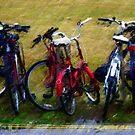 Bikes in the wet by Simon Duckworth