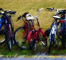 Bikes in the wet by Simon Duckworth