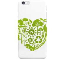 Eco heart iPhone Case/Skin