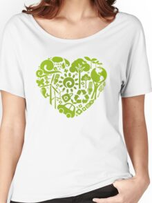 Eco heart Women's Relaxed Fit T-Shirt