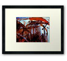 amber life forms.... Framed Print