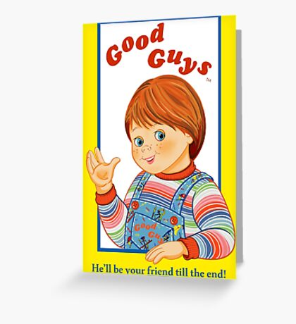 Child's Play - Good Guys - Chucky Greeting Card