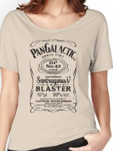 Pan Galactic Gargle Blaster - No. 42 [BLACK] Women's Relaxed Fit T-Shirt