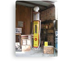Old Shell Fuel bowser Canvas Print