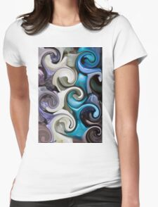 colored background texture Womens Fitted T-Shirt