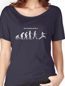 Evolution of Man - Martial Arts - Dark [G] Women's Relaxed Fit T-Shirt