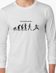 Evolution of Man - Martial Arts - Light [G] Long Sleeve T-Shirt