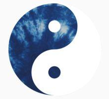 Ying Yang Symbol (Tie Dye Blue) One Piece - Short Sleeve