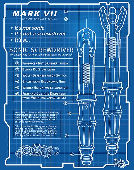 """Sonic Screwdriver """"Mark VII"""" Poster by zerobriant"""