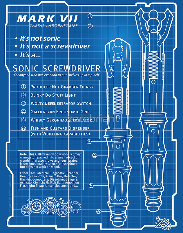 "Sonic Screwdriver ""Mark VII"" Poster by zerobriant"